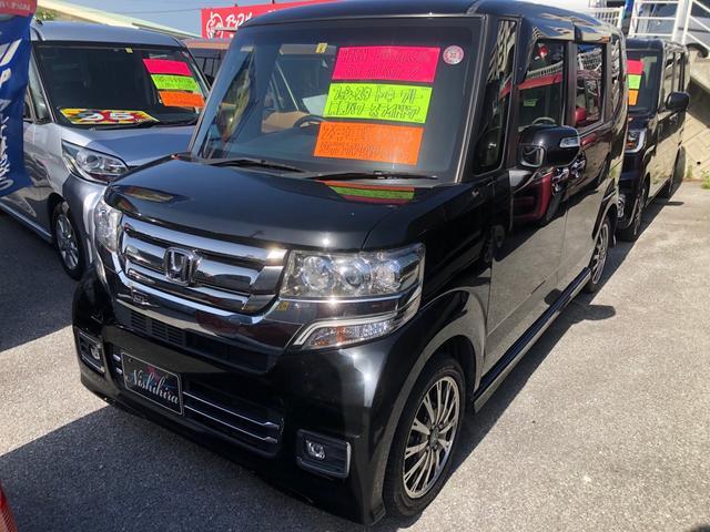 沖縄県の中古車ならN-BOXカスタム G・ターボLパッケージ ナビ TV DVD Bluetooth バックカメラ