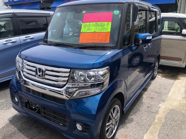 沖縄県の中古車ならN-BOX+カスタム G・ターボAパッケージ ナビ TV DVD Bluetooth バックカメラ 両側電動スライドドア