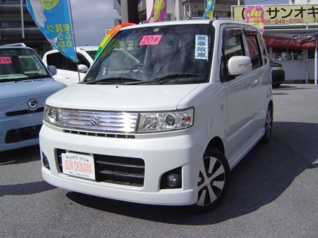 沖縄の中古車 スズキ ワゴンR 車両価格 58万円 リ済込 平成20年 8.4万km パールホワイト