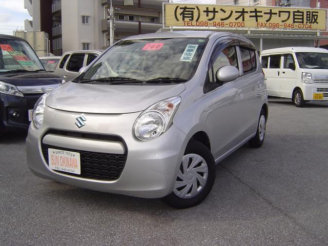 沖縄の中古車 スズキ アルトエコ 車両価格 64万円 リ済込 平成24年 7.3万km シルバーII