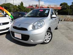 沖縄の中古車 日産 マーチ 車両価格 43万円 リ済込 平成25年 9.0万K シルバーM