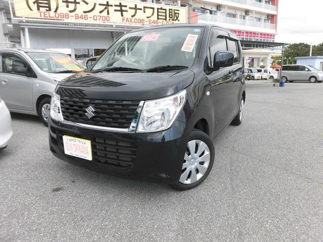 沖縄の中古車 スズキ ワゴンR 車両価格 70万円 リ済込 平成27年 7.7万km ブラックM