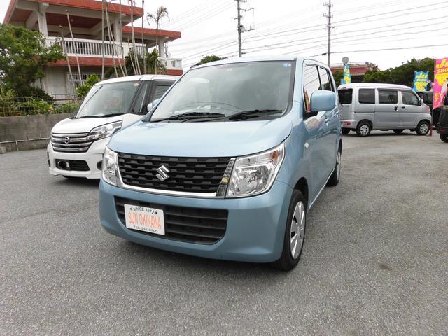 沖縄の中古車 スズキ ワゴンR 車両価格 74万円 リ済込 2015(平成27)年 7.4万km LグリーンM