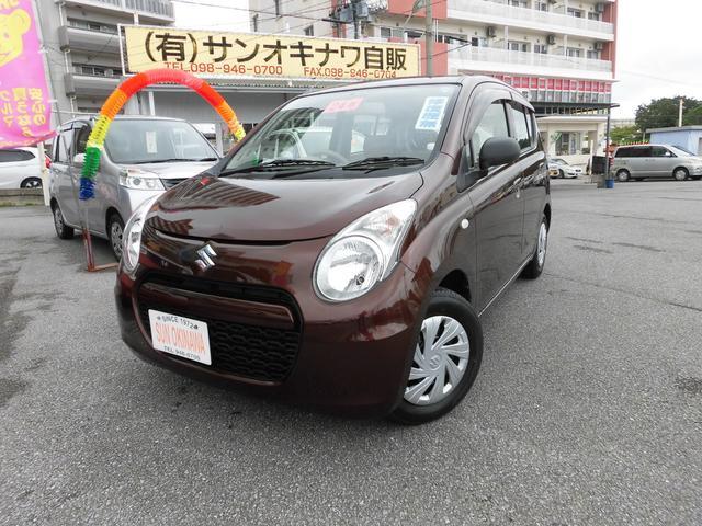 沖縄の中古車 スズキ アルトエコ 車両価格 53万円 リ済込 2012(平成24)年 6.9万km ブラウンM