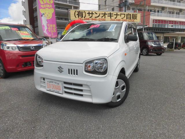 沖縄の中古車 スズキ アルト 車両価格 58万円 リ済込 2016(平成28)年 7.6万km ホワイトM