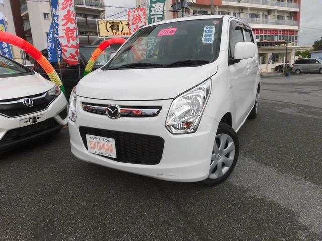 沖縄の中古車 マツダ フレア 車両価格 60万円 リ済込 2013(平成25)年 7.3万km ホワイトM