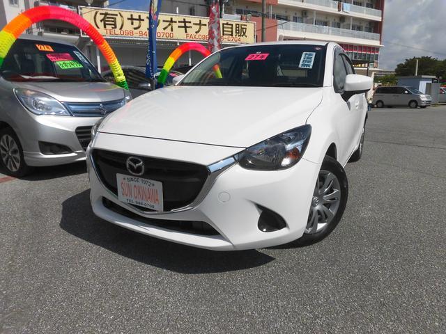 沖縄の中古車 マツダ デミオ 車両価格 83万円 リ済込 2015(平成27)年 7.3万km ホワイト