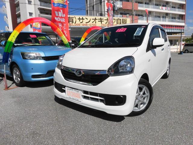 沖縄の中古車 ダイハツ ミライース 車両価格 60万円 リ済込 2015(平成27)年 7.8万km ホワイトM