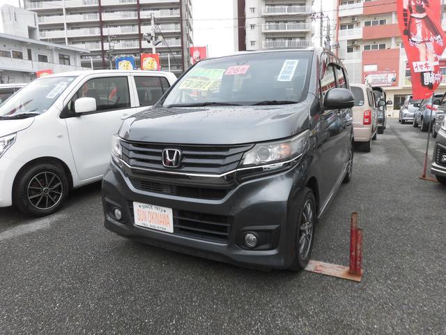 沖縄の中古車 ホンダ N-WGNカスタム 車両価格 90万円 リ済込 2014(平成26)年 7.9万km グレーM