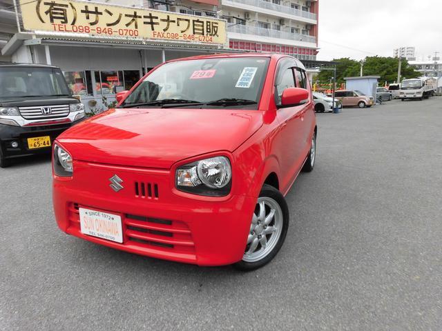 沖縄の中古車 スズキ アルト 車両価格 74万円 リ済込 2017(平成29)年 0.8万km レッドM