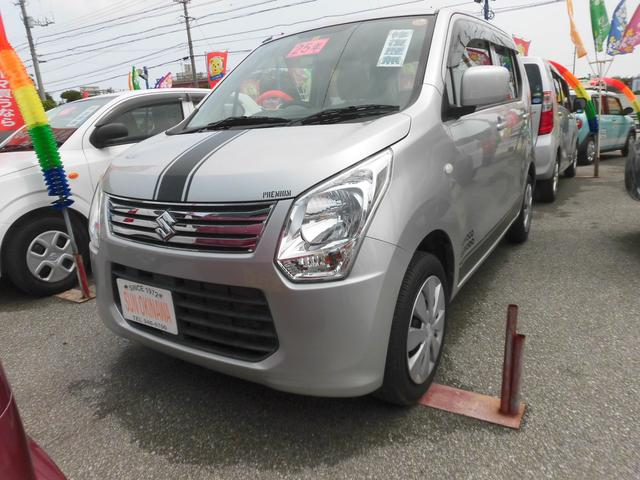 沖縄の中古車 スズキ ワゴンR 車両価格 64万円 リ済込 2013(平成25)年 3.7万km シルバーM