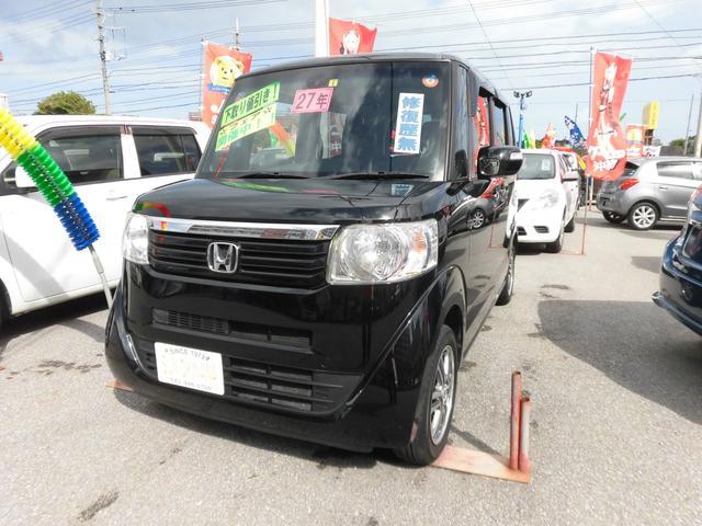 沖縄の中古車 ホンダ N-BOX 車両価格 100万円 リ済込 2015(平成27)年 5.0万km ブラック