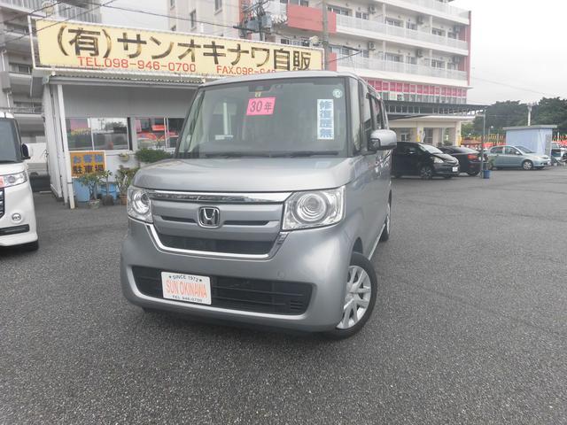 沖縄の中古車 ホンダ N-BOX 車両価格 104万円 リ済込 2018(平成30)年 7.3万km シルバーM