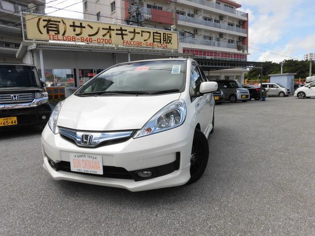 沖縄の中古車 ホンダ フィットハイブリッド 車両価格 89万円 リ済込 2012(平成24)年 9.8万km パールホワイト