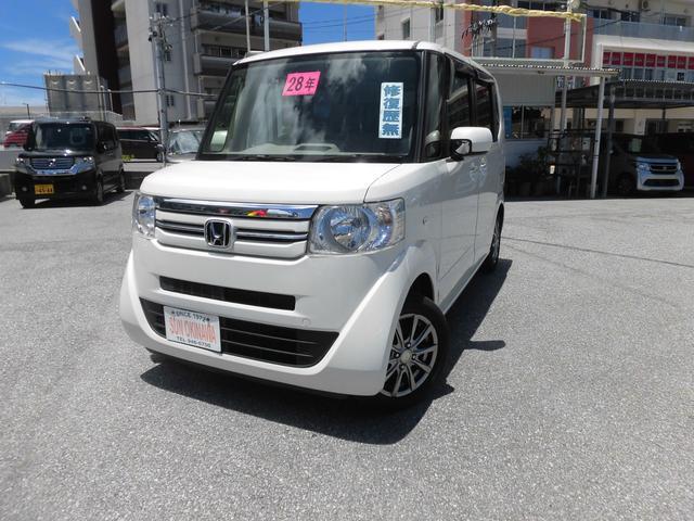 沖縄の中古車 ホンダ N-BOX 車両価格 84万円 リ済込 2016(平成28)年 7.4万km パールホワイト