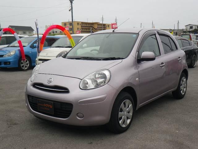 沖縄の中古車 日産 マーチ 車両価格 45万円 リ済込 平成22年 4.4万km ライラック