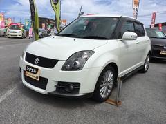 沖縄の中古車 スズキ スイフト 車両価格 69万円 リ済込 平成20年 5.6万K パールホワイト