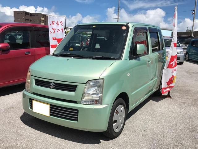 沖縄の中古車 スズキ ワゴンR 車両価格 22万円 リ済込 平成16年 9.4万km LグリーンM