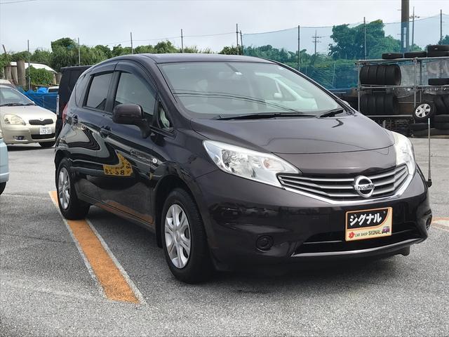 沖縄の中古車 日産 ノート 車両価格 57万円 リ済込 2013(平成25)年 2.7万km ダークパープル