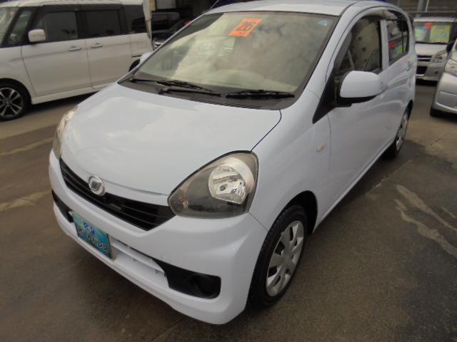 沖縄の中古車 ダイハツ ミライース 車両価格 52万円 リ済込 平成26年 3.3万km ライトブルー