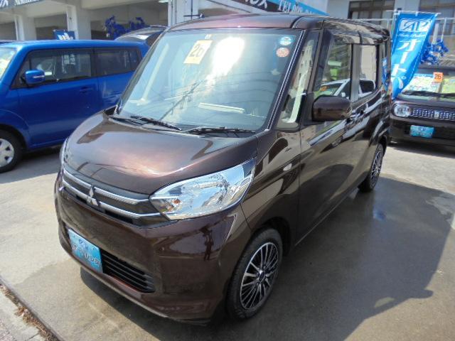 沖縄の中古車 三菱 eKスペース 車両価格 73万円 リ済込 平成26年 4.2万km ブラウン