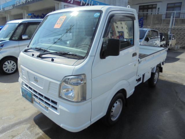 沖縄の中古車 日産 NT100クリッパートラック 車両価格 54万円 リ済込 2014(平成26)年 8.8万km ホワイト