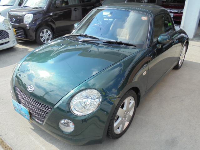 沖縄の中古車 ダイハツ コペン 車両価格 83万円 リ済込 2009(平成21)年 5.2万km グリーンM