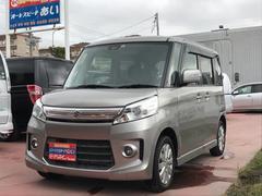 沖縄の中古車 スズキ スペーシアカスタム 車両価格 100万円 リ済込 平成25年 7.1万K シルバーM