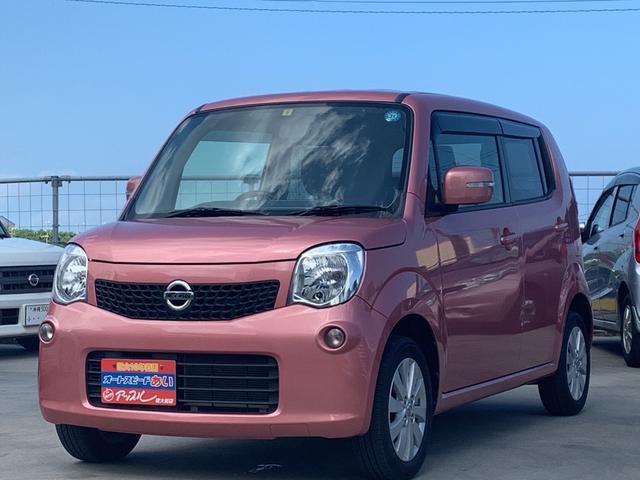 沖縄の中古車 日産 モコ 車両価格 75万円 リ済込 2014(平成26)年 7.2万km ピンク