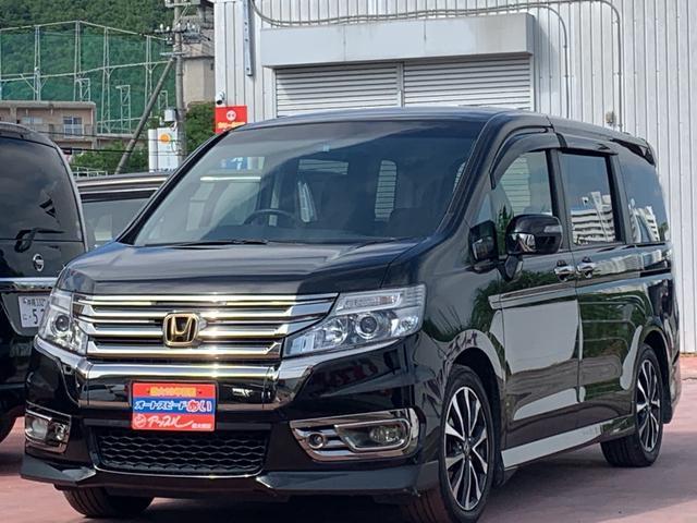沖縄の中古車 ホンダ ステップワゴンスパーダ 車両価格 165万円 リ済込 2014(平成26)年 8.4万km ブラックM