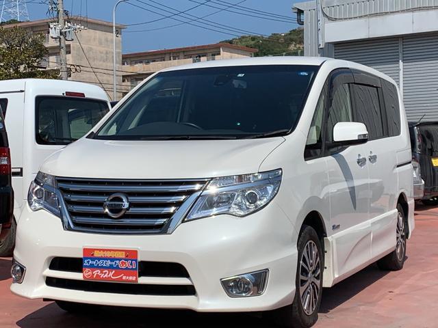 沖縄の中古車 日産 セレナ 車両価格 173万円 リ済込 2015(平成27)年 7.6万km パールホワイト