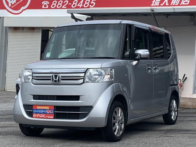 沖縄の中古車 ホンダ N-BOX 車両価格 88万円 リ済込 2015(平成27)年 7.0万km シルバーM