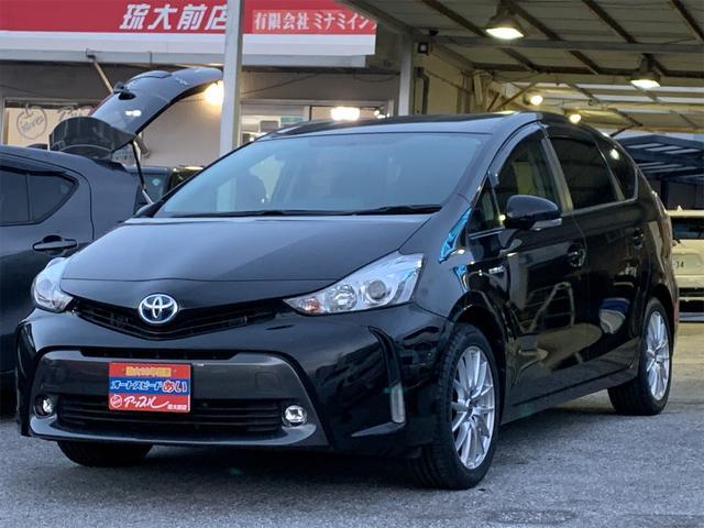 沖縄県の中古車ならプリウスアルファ S 社外ナビ バックモニター 新品社外17インチアルミ エンジンプッシュスタート スマートキー フォグライト ETC
