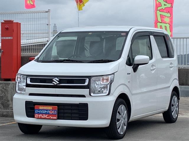 沖縄の中古車 スズキ ワゴンR 車両価格 98万円 リ済込 2019(令和1)年 2.1万km ホワイト