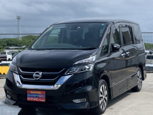 沖縄の中古車 日産 セレナ 車両価格 205万円 リ済込 2018(平成30)年 7.3万km ブラック