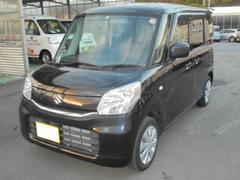 沖縄の中古車 スズキ スペーシア 車両価格 102万円 リ済込 平成27年 2.4万K ブルーイッシュブラックパール3