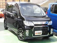 沖縄の中古車 ダイハツ タントエグゼ 車両価格 65.9万円 リ済込 平成24年 8.6万K ブラックマイカメタリック