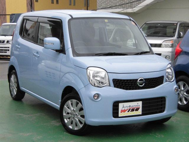 沖縄の中古車 日産 モコ 車両価格 45.9万円 リ済込 平成25年 9.1万km ペールブルーM