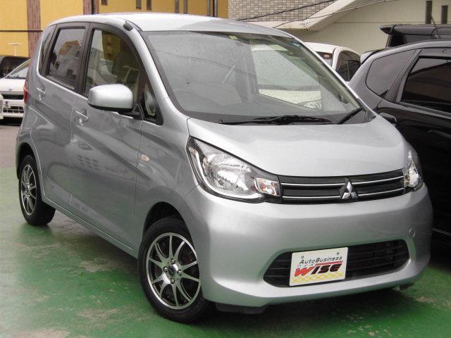 沖縄の中古車 三菱 eKワゴン 車両価格 45.9万円 リ済込 平成26年 9.3万km クールシルバーメタリック