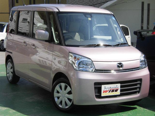 沖縄の中古車 マツダ フレアワゴン 車両価格 61.9万円 リ済込 2014(平成26)年 8.6万km イノセントピンクパールM