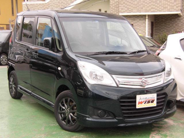 沖縄県の中古車ならソリオ Gリミテッド 左側パワースライド スマートキー 社外ナビ