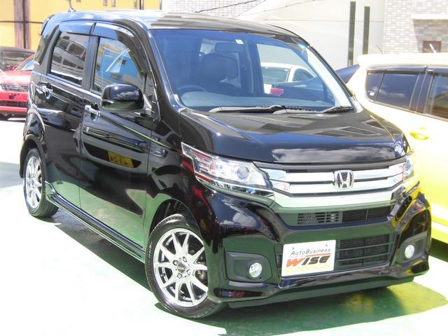 沖縄の中古車 ホンダ N-WGNカスタム 車両価格 81.9万円 リ済込 2015(平成27)年 7.3万km スマートブラック