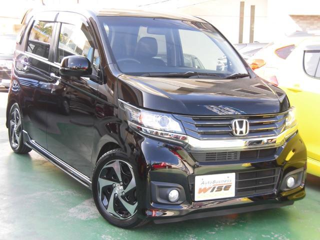 沖縄の中古車 ホンダ N-WGNカスタム 車両価格 81.9万円 リ済込 2015(平成27)年 7.5万km スマートブラック