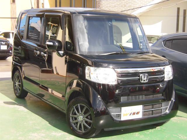 沖縄の中古車 ホンダ N-BOX 車両価格 81.9万円 リ済込 2016(平成28)年 8.6万km スマートブラック