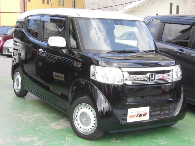 沖縄の中古車 ホンダ N-BOXスラッシュ 車両価格 95.9万円 リ済込 2015(平成27)年 8.3万km スマートブラックII