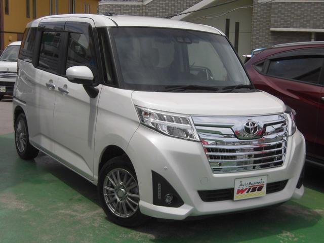 沖縄の中古車 トヨタ ルーミー 車両価格 129.9万円 リ済込 2018(平成30)年 3.2万km パールホワイトIII