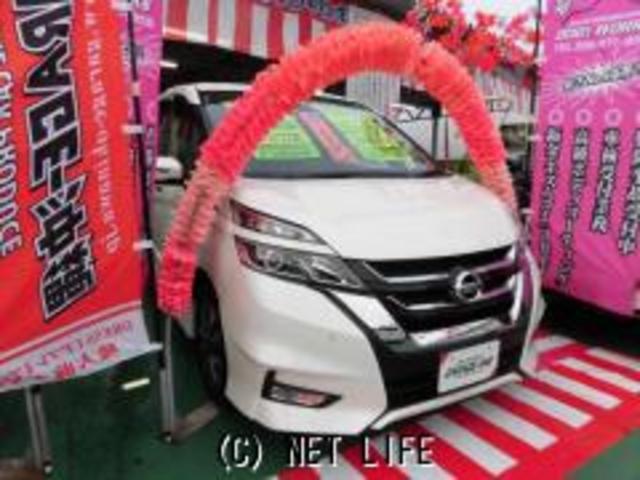 沖縄県の中古車ならセレナ ハイブリッド 2.0・ハイウェイスター・ナビ・LED