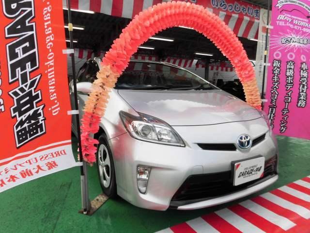 沖縄の中古車 トヨタ プリウス 車両価格 89万円 リ済込 2013(平成25)年 7.1万km シルバーM