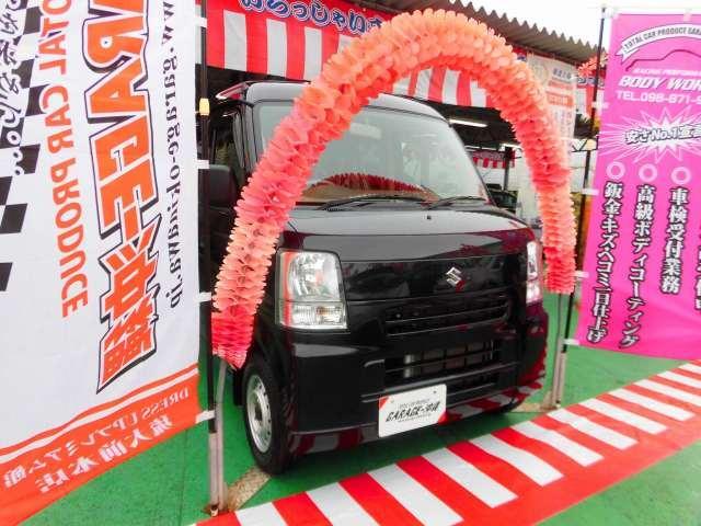 沖縄の中古車 スズキ エブリイ 車両価格 69万円 リ済込 2013(平成25)年 2.8万km ブラックM
