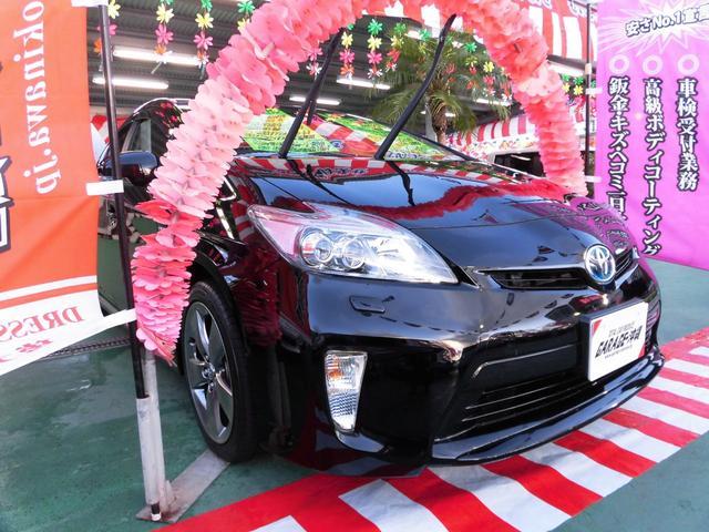 沖縄県の中古車ならプリウス Sツーリング・マイコーデ・純正HDDナビ&フルセグ・レザー